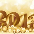 New 2013 golden year, vector illustration — Stock Vector #15441043