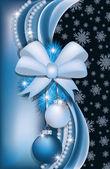 Christmas greeting card, vector illustration — Stock Vector