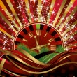 Casino Christmas background, vector illustration — Stock Vector