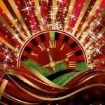 Casino Christmas background, vector illustration — Stock Vector