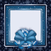 Winter photo frame scrapbooking — Stockvektor