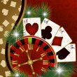 Christmas poker banner, vector illustration — Stock Vector