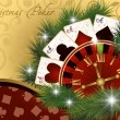 Royalty-Free Stock Imagen vectorial: Christmas poker postcard, vector illustration