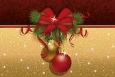 Inbjudan julkort, vektor illustration — Stockvektor
