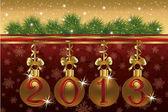 2013 nieuwjaar heilwens kaart, vectorillustratie — Stockvector