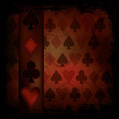Poker background in vintage style , vector illustration — Vecteur