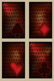 Set Poker cards in vintage style , vector illustration — Stock Vector