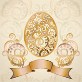 Happy Easter card, vector illustration — Stock Vector