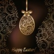 Happy Easter greeting card, vector illustration — Stockvectorbeeld