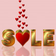 Royalty-Free Stock Vector Image: Valentines day sale, vector illustration