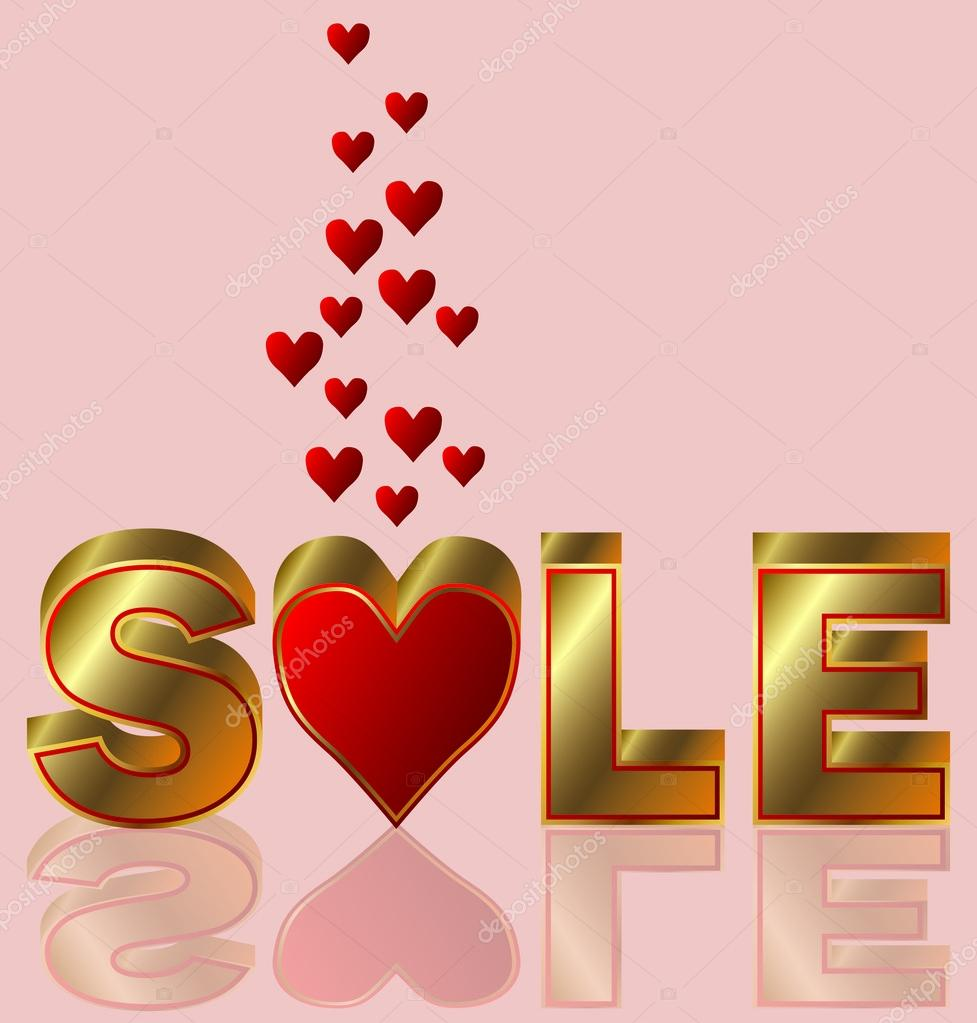 Valentines day sale, vector illustration — Stock Vector #19262911