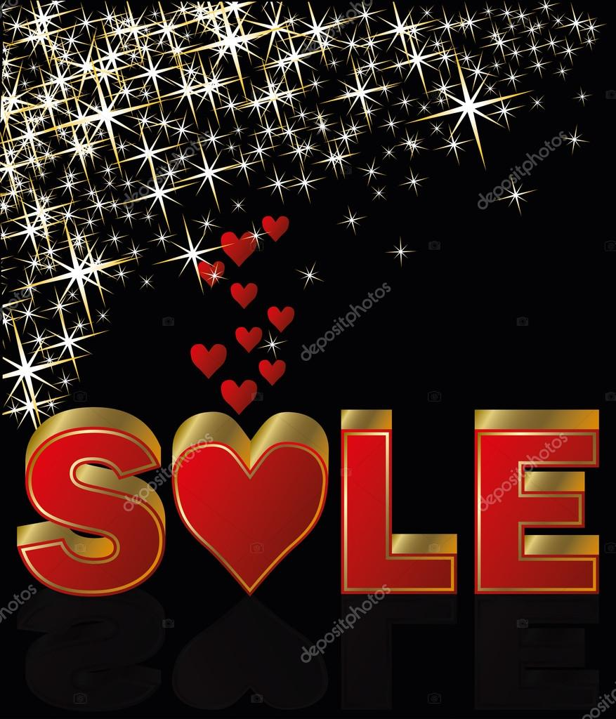 Valentines day sale, vector illustration — Stock Vector #19262967