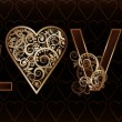 Love banner, vector illustration — Image vectorielle