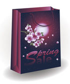 Spring Sale shopping bag, vector illustration — Stock Vector