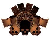頭蓋骨の分離、ベクトル図を持つカジノの火かき棒要素 — ストックベクタ