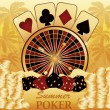 Summer poker time. Casino card. vector illustration — Vector de stock