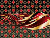 Abstract casino banner with poker elements, vector illustration — Stok Vektör