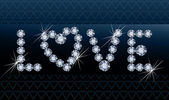 Diamond love banner, vector illustration — Stock Vector
