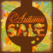 Autumn sale poster, vector illustration — Stock Vector