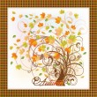Elegant Autumn Tree card . vector illustration — Stock Vector #30343675