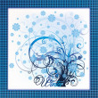Elegant winter tree card, vector illustration — Image vectorielle