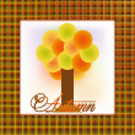 Autumn invitation card, vector illustration — Stock Vector