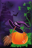 Happy halloween background, vector illustration — Stock Vector