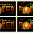 Stock Vector: Poker halloween banners, vector illustration