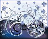 Zima diament tło, ilustracji wektorowych — Wektor stockowy