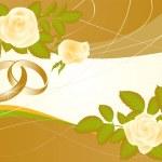 Love wedding card, vector — Stock Vector #3378012