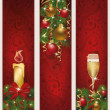 Three christmas banners, vector illustration  — Stock Vector #34338121