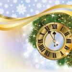 New Year golden background, vector illustration — Stock Vector #34698489