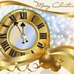 New Year golden banner, vector illustration — Stock Vector #34698479
