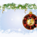 Christmas Poker greeting card, vector illustration — Stock Vector #35235205