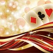 Casino poker cards banner, vector illustration — Stok Vektör