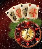 新しい 2014 年のポーカー スタイル、ベクトル イラスト — ストックベクタ