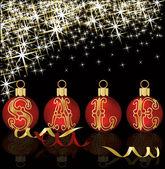 Christmas sale shop poster, vector illustration — Stock Vector