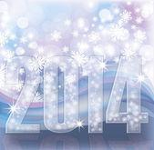 Happy New 2014 Year invitation card, vector illustration — Stock Vector