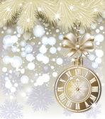 Merry Christmas elegant card, vector illustration — Stock Vector
