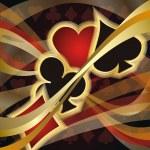 Casino Poker card, vector illustration — Stock Vector