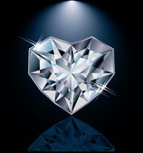 Shiny diamond heart, vector illustration — 图库矢量图片
