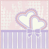 Valentine day greeting background, vector illustration — Stock Vector