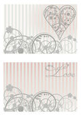Vintage Love banners, vector illustration — Stock Vector