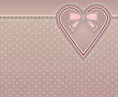 Vintage love background, vector illustration — Vector de stock