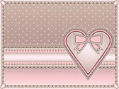 Love vintage background with heart, vector illustration — Vector de stock