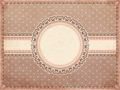 Vintage romantic background, vector illustration — Vector de stock