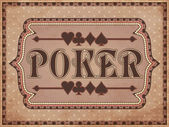 Vintage Poker background, vector illustration — Stock Vector
