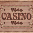 Vintage casino banner, vector illustration — Stock Vector