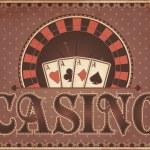Vintage Casino invitation card, vector illustration — Stock Vector #39985665