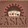 Vintage Casino invitation card, vector illustration — Stock Vector